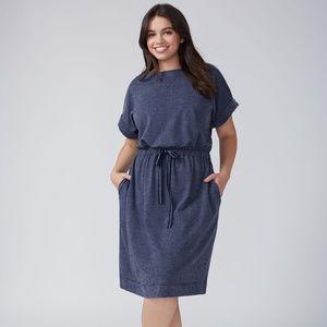 Lane Bryant Drawstring Sweatshirt Dress Size 22/24